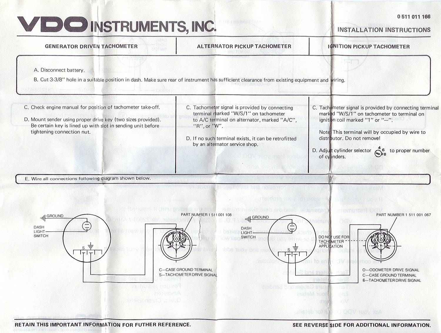 Vdo Tach Wiring Instructions Diagram Enthusiast Wiring Diagrams \u2022 VDO  Gauges Vdo Voltmeter Wiring